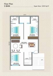 1035 sqft, 3 bhk Apartment in Shiwalik Palm City Sector 127 Mohali, Mohali at Rs. 26.9000 Lacs