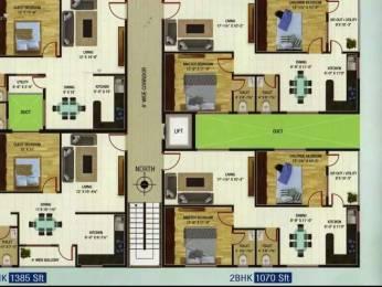 1070 sqft, 2 bhk Apartment in Builder SNR Enclave Bakkanapalem Road, Visakhapatnam at Rs. 32.1000 Lacs