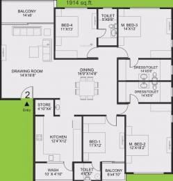 2488 sqft, 4 bhk Apartment in Sangath Posh Chandkheda, Ahmedabad at Rs. 18.0000 Cr