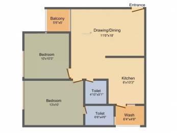 1215 sqft, 2 bhk Apartment in Soham Dev Prayag Motera, Ahmedabad at Rs. 45.0000 Lacs