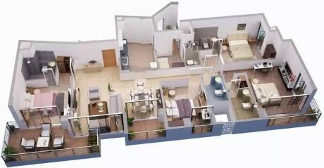 2550 sqft, 4 bhk Apartment in Tata Capitol Heights Rambagh, Nagpur at Rs. 50000