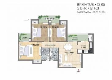 1285 sqft, 3 bhk Apartment in TATA Eureka Park Sector 150, Noida at Rs. 69.5000 Lacs