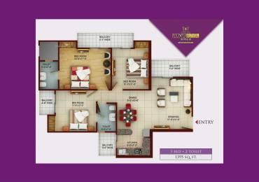 1395 sqft, 3 bhk Apartment in Samridhi Luxuriya Avenue Sector 150, Noida at Rs. 62.5000 Lacs