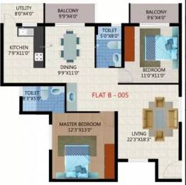 1234 sqft, 2 bhk Apartment in Unique Eastern Breeze Mahadevapura, Bangalore at Rs. 24000