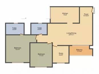 1346 sqft, 2 bhk Apartment in Prestige Lakeside Habitat Varthur, Bangalore at Rs. 30000
