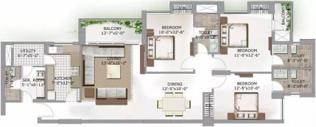 1702 sqft, 3 bhk Apartment in 3C Lotus Boulevard Sector 100, Noida at Rs. 22000