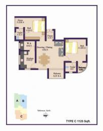 1125 sqft, 2 bhk Apartment in Builder Hanco Mountain Mist Olavakkode, Palakkad at Rs. 40.0000 Lacs
