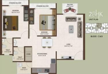 1170 sqft, 2 bhk Apartment in Rajhans Platinum Residency Palanpur, Surat at Rs. 38.0000 Lacs
