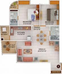 1316 sqft, 2 bhk Apartment in Chugh Palazzo Park Residency Vijay Nagar, Indore at Rs. 39.0000 Lacs