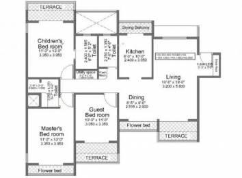 1770 sqft, 3 bhk Apartment in Regency Crest Kharghar, Mumbai at Rs. 35000
