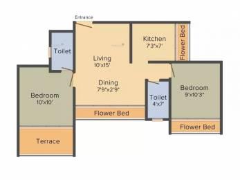 985 sqft, 2 bhk Apartment in Nath Elite Homes Kharghar, Mumbai at Rs. 75.0000 Lacs