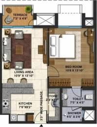 702 sqft, 1 bhk Apartment in Lodha Belmondo Gahunje, Pune at Rs. 13000