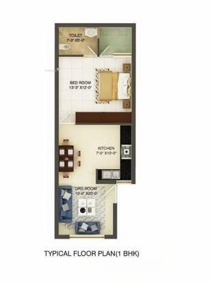 650 sqft, 1 bhk Apartment in Builder Prithvi Homezz Sector 127 Mohali, Mohali at Rs. 13.9000 Lacs