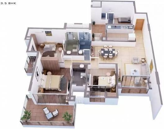 2050 sqft, 3 bhk Apartment in Tata Capitol Heights Rambagh, Nagpur at Rs. 1.4750 Cr