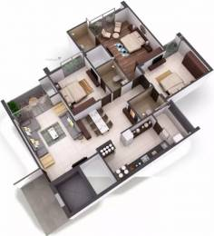 1985 sqft, 3 bhk Apartment in Goyal Orchid Heaven Bopal, Ahmedabad at Rs. 69.4750 Lacs