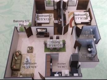1049 sqft, 2 bhk Apartment in Builder Paras Green Mundera Bazaar, Allahabad at Rs. 39.2395 Lacs