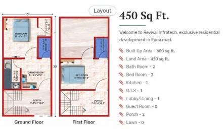 600 sqft, 2 bhk BuilderFloor in Builder Ghar parivar Kursi Road, Lucknow at Rs. 12.5000 Lacs