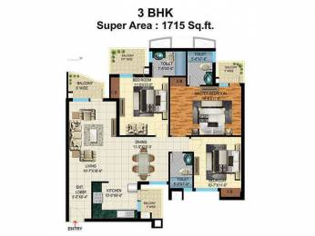 1715 sqft, 3 bhk Apartment in Pardesi Ushay Tower Kundli, Sonepat at Rs. 15500