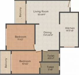 1075 sqft, 2 bhk Apartment in Marian Solace Derebail, Mangalore at Rs. 40.3125 Lacs