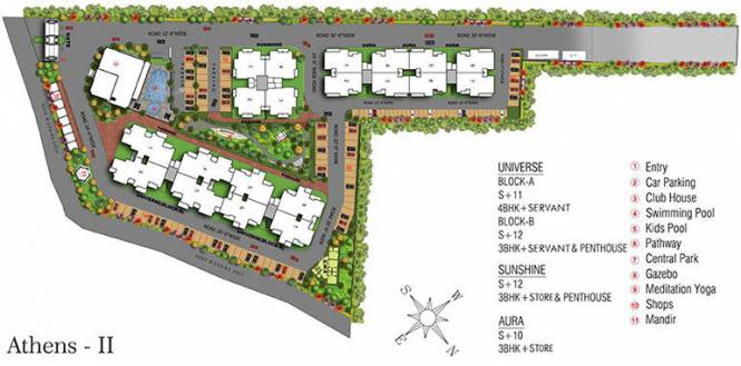 1504 sqft, 3 bhk Apartment in GBP Athens II PR7 Airport Road, Zirakpur at Rs. 61.4000 Lacs