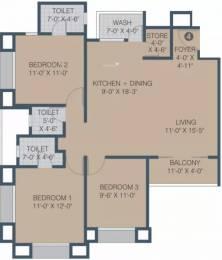 1635 sqft, 3 bhk Apartment in Sangini Gardenia Palanpur, Surat at Rs. 52.3100 Lacs