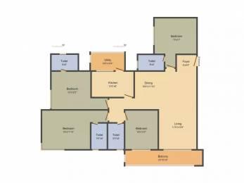 2302 sqft, 4 bhk Apartment in Salarpuria Sattva Luxuria Heights Tangra, Kolkata at Rs. 1.7000 Cr