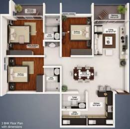 1570 sqft, 3 bhk Apartment in Northernsky City Kankanady, Mangalore at Rs. 25000