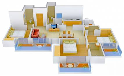 1795 sqft, 3 bhk Apartment in Ajnara The Belvedere Sector 79, Noida at Rs. 75.3003 Lacs