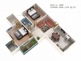 1008 sqft, 2 bhk Apartment in Builder Mahima Apartment Raebareli Road, Lucknow at Rs. 22.5000 Lacs