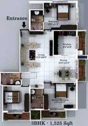 1525 sqft, 3 bhk Apartment in Ace Apple Mathura Kodailbail, Mangalore at Rs. 77.0000 Lacs