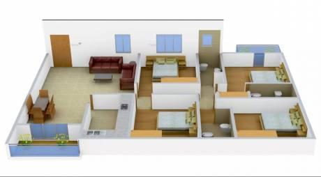1980 sqft, 4 bhk Apartment in Jain Dream Residency Manor Rajarhat, Kolkata at Rs. 80.0000 Lacs