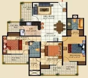 1798 sqft, 3 bhk Apartment in Ajnara Pride Sector 4 Vasundhara, Ghaziabad at Rs. 80.0000 Lacs