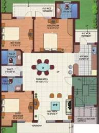 1640 sqft, 3 bhk Apartment in M2K The White House Sector 57, Gurgaon at Rs. 33000