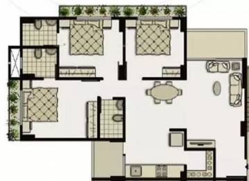 1593 sqft, 3 bhk Apartment in Shivam Priory Makarba, Ahmedabad at Rs. 25000