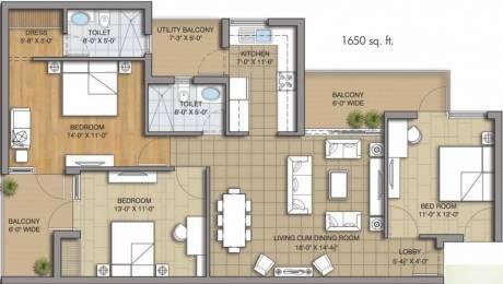 1650 sqft, 3 bhk Apartment in Sushma Grande Next Gazipur, Zirakpur at Rs. 50.0000 Lacs