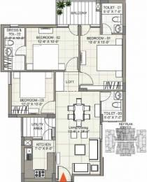 1350 sqft, 3 bhk Apartment in Sushma Joynest ZRK 1 Gazipur, Zirakpur at Rs. 31.0000 Lacs