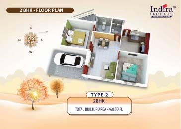 760 sqft, 2 bhk Villa in Builder Indiras Sun Ville Mannivakkam, Chennai at Rs. 43.2600 Lacs