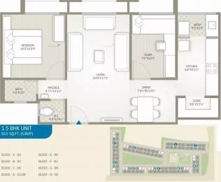 915 sqft, 1 bhk Apartment in Goyal Aakash Residency Shela, Ahmedabad at Rs. 10000