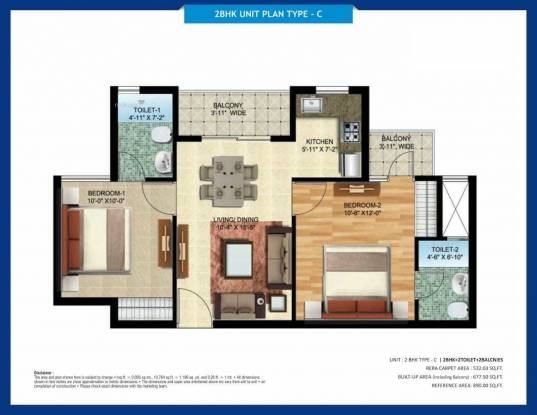 890 sqft, 2 bhk Apartment in Oro City Jankipuram, Lucknow at Rs. 32.4054 Lacs