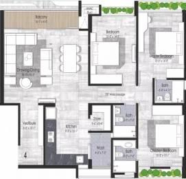1917 sqft, 3 bhk Apartment in Unity Domain Heights Ambavadi, Ahmedabad at Rs. 30000