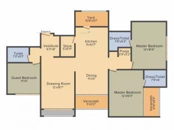 2665 sqft, 3 bhk Apartment in Sheetal Aqua Shahibagh, Ahmedabad at Rs. 1.9500 Cr