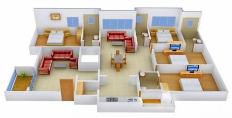 2700 sqft, 4 bhk Apartment in Shree Rang Aroma Urjanagar, Gandhinagar at Rs. 42000