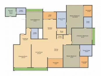 4122 sqft, 4 bhk Apartment in Sheetal Aqua Shahibaug, Ahmedabad at Rs. 65000