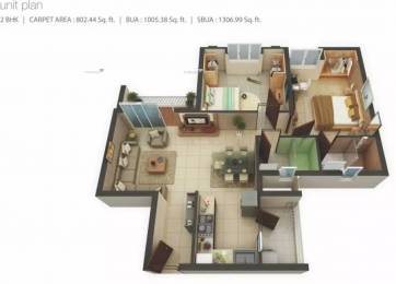 1307 sqft, 2 bhk Apartment in Mahima Florenza Patrakar Colony, Jaipur at Rs. 45.0570 Lacs