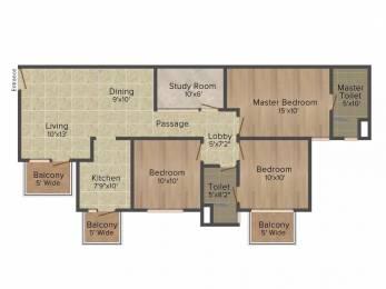 1310 sqft, 3 bhk Apartment in Emaar Emerald Estate Sector 65, Gurgaon at Rs. 1.1000 Cr