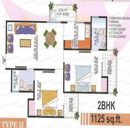 1125 sqft, 2 bhk Apartment in Super OXY Homez Indraprastha Yojna, Ghaziabad at Rs. 34.3125 Lacs