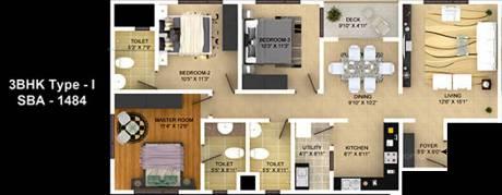 1484 sqft, 3 bhk Apartment in Skylark Ithaca KR Puram, Bangalore at Rs. 0