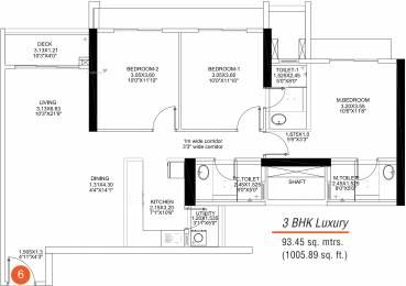 1005.89 sqft, 3 bhk Apartment in SD Building No 3 Wing A Epsilon Kandivali East, Mumbai at Rs. 0