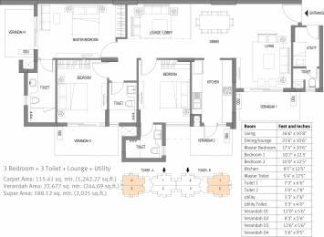 2025 sqft, 3 bhk Apartment in Emaar Palm Premier Sector 77, Gurgaon at Rs. 0