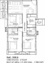 988 sqft, 3 bhk Apartment in Sugam Morya Tollygunge, Kolkata at Rs. 0